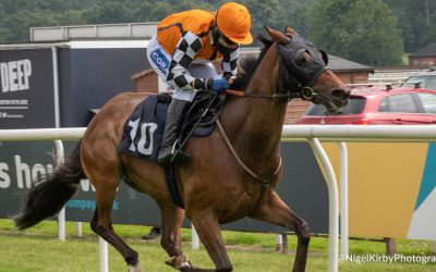 Tom Scudamore wins the Jump Jockeys Nunthorpe at York
