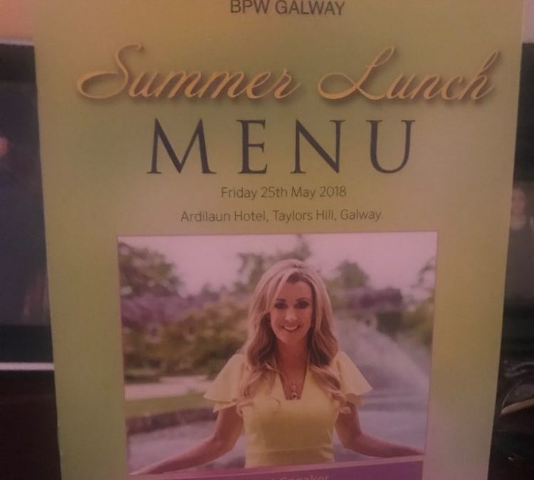 Chanelle McCoy provides Keynote Speech at BPW Summer Lunch