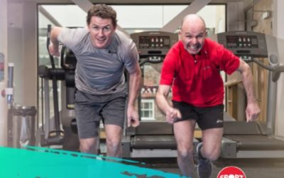AP McCoy & Luke Harvey promote exercise for Sport Relief