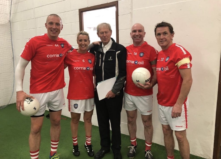 Sir Anthony & Chanelle, Lady McCoy play in Croke Park Football Match