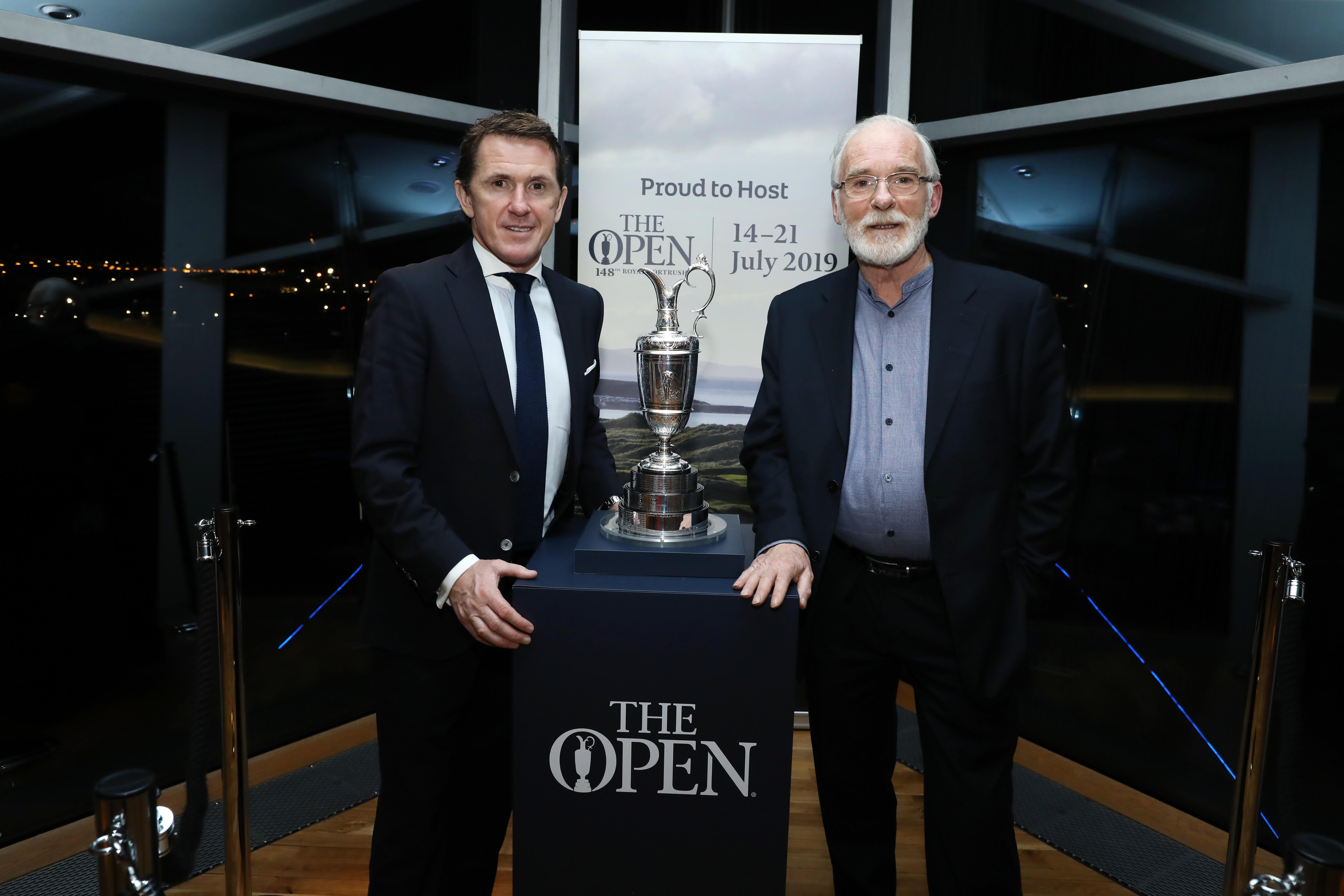 Sir Anthony McCoy speaks at Tourism NI's launch of 148th Open Golf