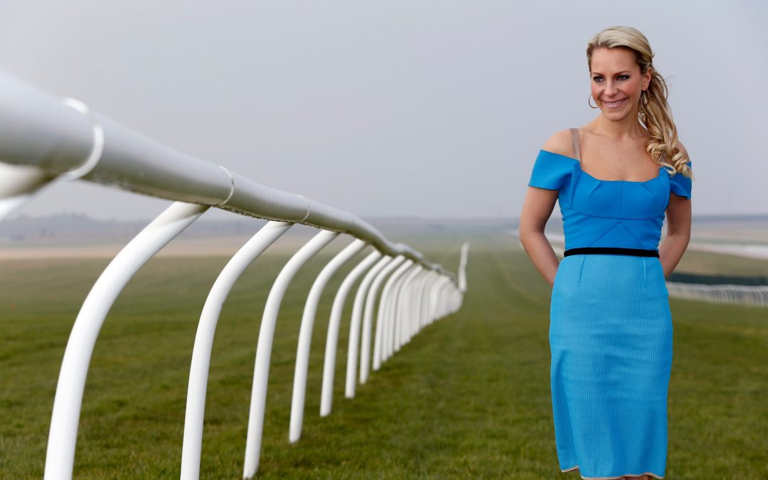 Emma Spencer hosts for the Jockey Club at Cheltenham