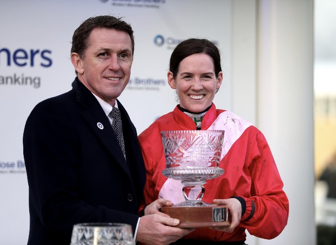 Sir Anthony McCoy presents Close Brothers Trophy at Cheltenham