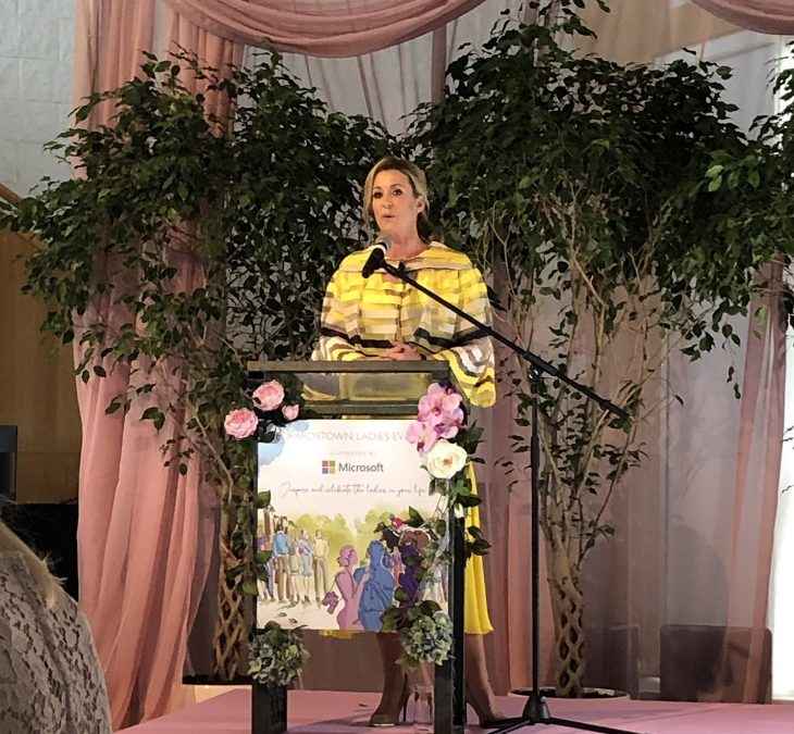 Chanelle, Lady McCoy, speaks at Leopardstown Ladies Evening