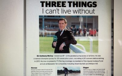 Sir Anthony McCoy features in Countryside Magazine