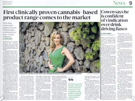 """Chanelle McCoy & """"Pureis"""" features in The Sunday Business Post"""