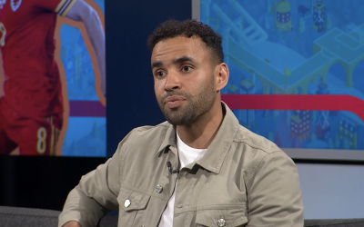 Hal Robson-Kanu appears as a Studio Guest for ITV Wales