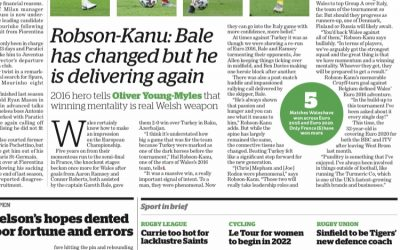 """Hal Robson-Kanu previews Wales' Euro chances in the """"i""""newspaper"""