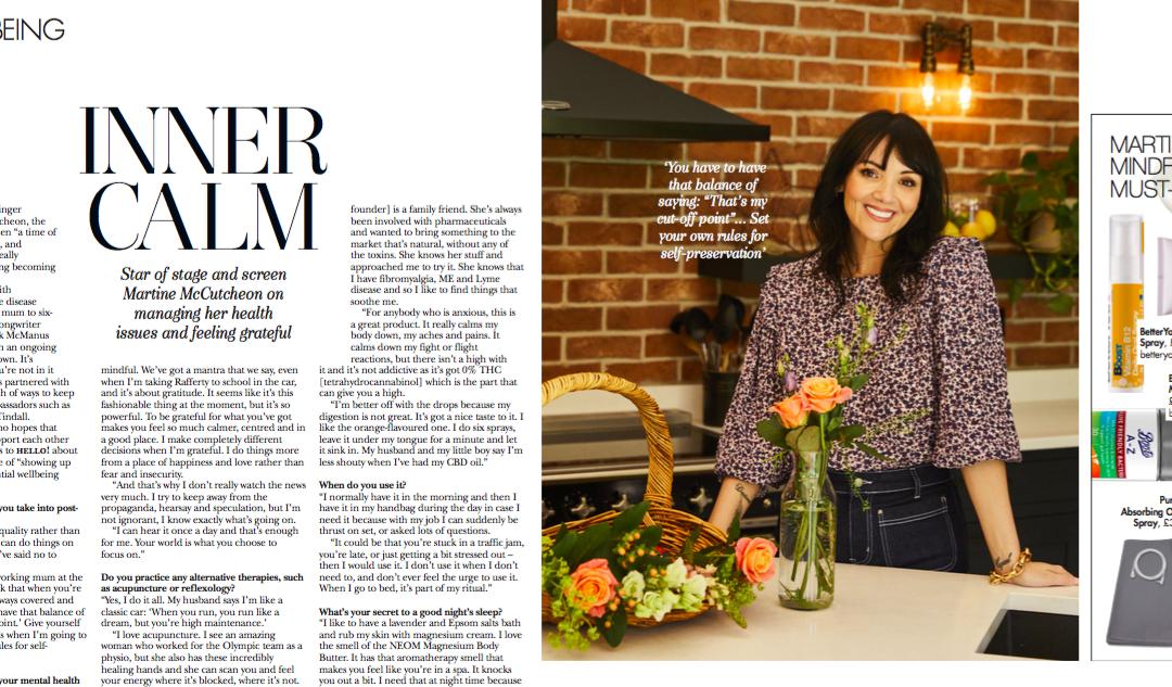 Martine McCutcheon features in Hello Magazine to discuss Pureis
