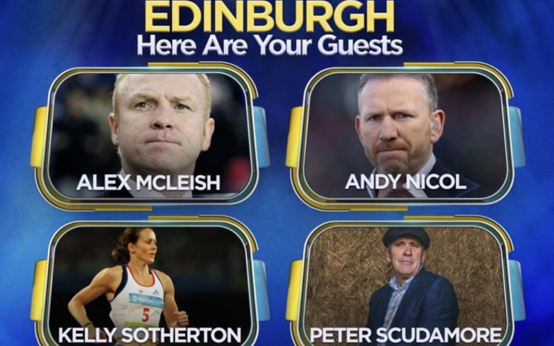 Peter Scudamore joins A Question of Sport at Edinburgh Theatre